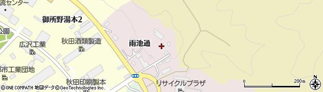 秋田県秋田市上北手御所野周辺の地図