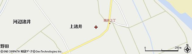 秋田県秋田市河辺諸井(上諸井)周辺の地図