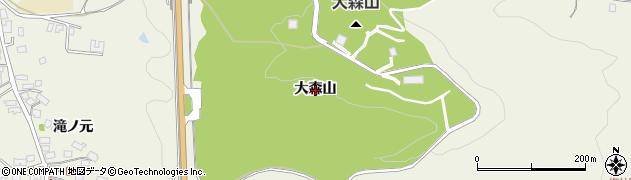 秋田県秋田市浜田(大森山)周辺の地図