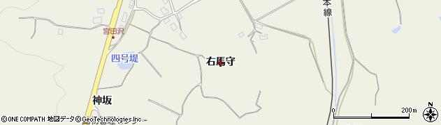 秋田県秋田市浜田(右馬守)周辺の地図