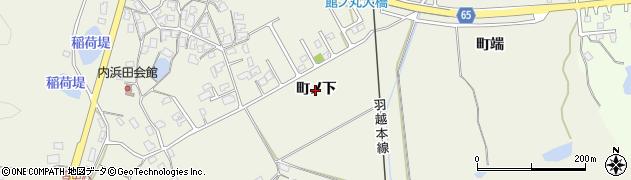 秋田県秋田市浜田(町ノ下)周辺の地図