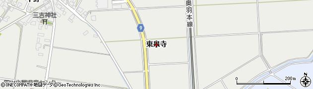 秋田県秋田市四ツ小屋(東泉寺)周辺の地図