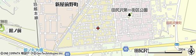 秋田県秋田市新屋田尻沢西町周辺の地図