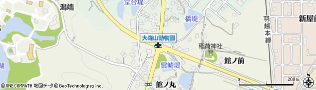 大森山動物園周辺の地図