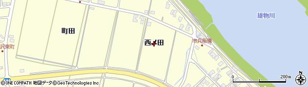 秋田県秋田市豊岩石田坂(西ノ田)周辺の地図