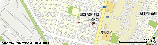 秋田県秋田市御野場新町周辺の地図