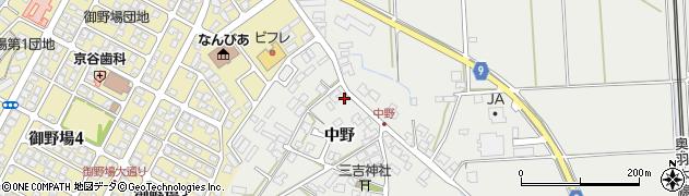 秋田県秋田市四ツ小屋(中野)周辺の地図