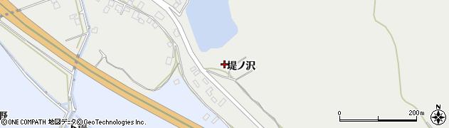 秋田県秋田市上北手猿田(堤ノ沢)周辺の地図