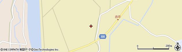 秋田県秋田市河辺赤平(中村)周辺の地図