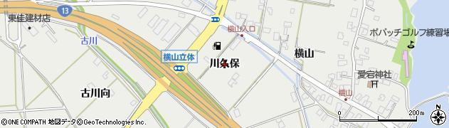 秋田県秋田市仁井田(川久保)周辺の地図