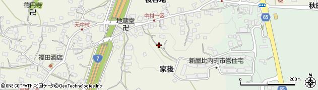 秋田県秋田市浜田(家後)周辺の地図