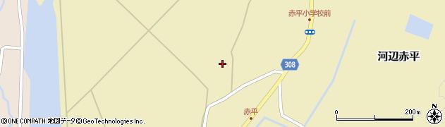 秋田県秋田市河辺赤平(野崎)周辺の地図