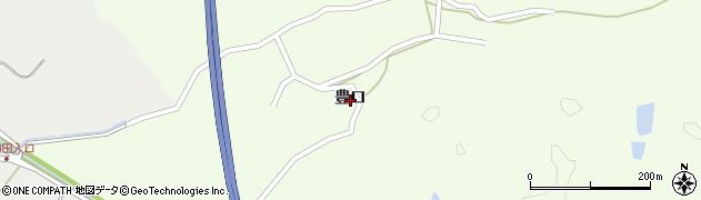 秋田県秋田市上北手大山田(豊口)周辺の地図