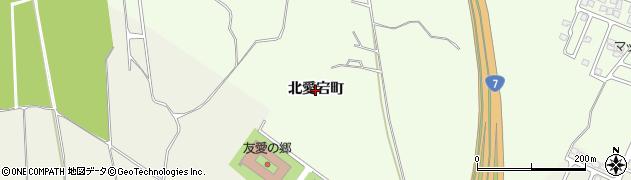 秋田県秋田市新屋町(北愛宕町)周辺の地図