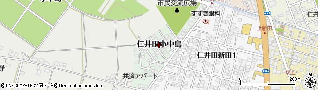 秋田県秋田市仁井田小中島周辺の地図