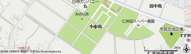 秋田県秋田市仁井田(小中島)周辺の地図
