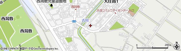 秋田県秋田市大住南周辺の地図