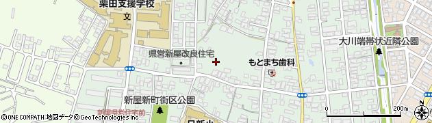 秋田県秋田市新屋栗田町周辺の地図