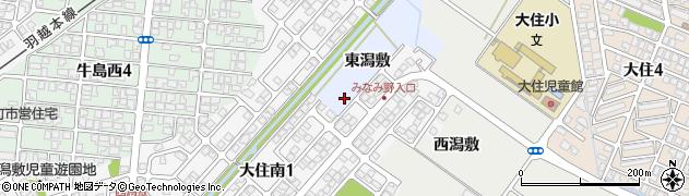 秋田県秋田市牛島(東潟敷)周辺の地図