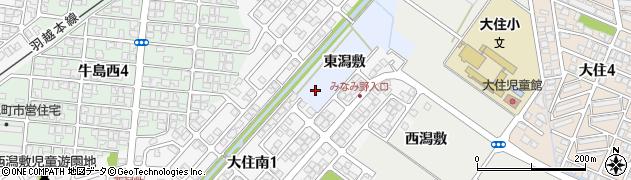 秋田県秋田市牛島周辺の地図