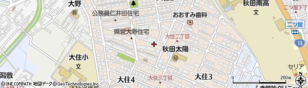 秋田県秋田市大住周辺の地図