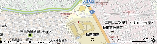 秋田県秋田市仁井田緑町周辺の地図