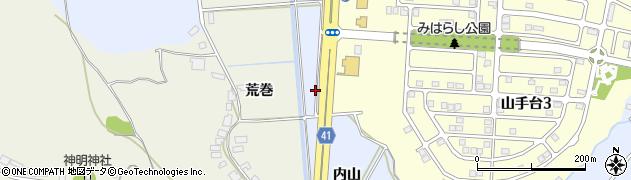 秋田県秋田市上北手百崎(内山)周辺の地図