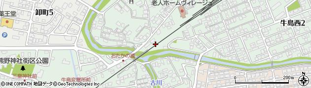 秋田県秋田市牛島西周辺の地図