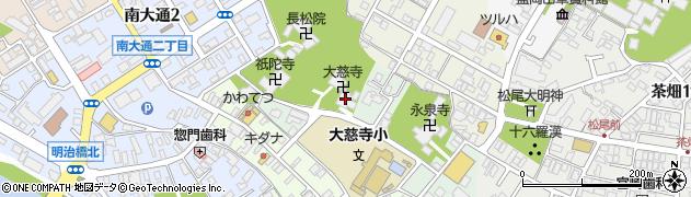大慈寺周辺の地図