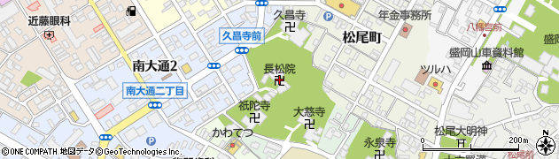 長松院周辺の地図