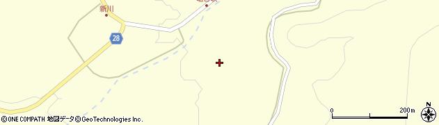 秋田県秋田市河辺岩見(新川上田面)周辺の地図