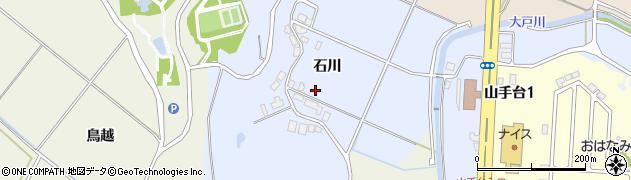 秋田県秋田市上北手百崎(石川)周辺の地図