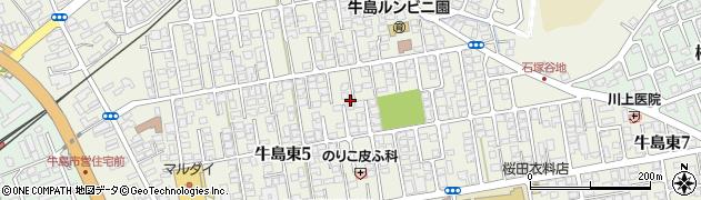 秋田県秋田市牛島東周辺の地図