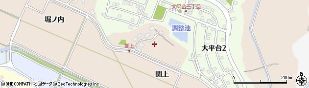 秋田県秋田市上北手大戸(関上)周辺の地図