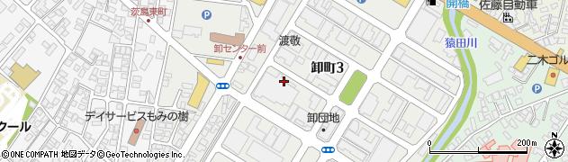 秋田県秋田市卸町周辺の地図