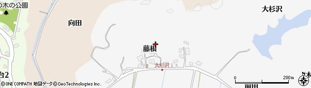秋田県秋田市上北手大杉沢周辺の地図
