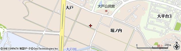 秋田県秋田市上北手大戸周辺の地図