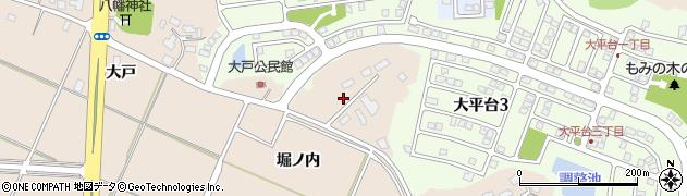 秋田県秋田市上北手大戸(堀ノ内)周辺の地図