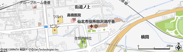 秋田県仙北市周辺の地図