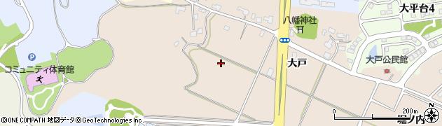 秋田県秋田市上北手大戸(大戸)周辺の地図