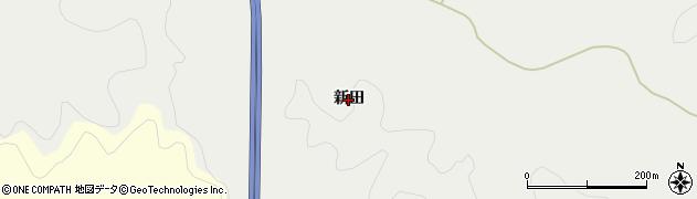 秋田県秋田市下北手黒川(新田)周辺の地図