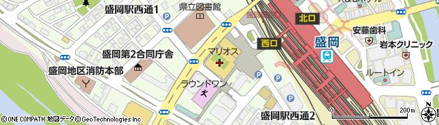 盛岡市民文化ホール周辺の地図