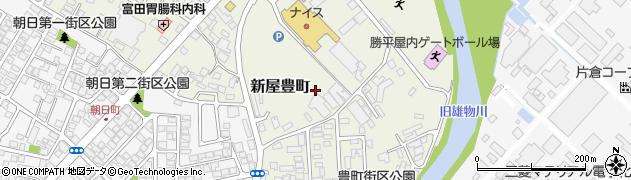 秋田県秋田市新屋豊町周辺の地図