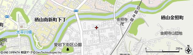秋田県秋田市楢山愛宕下周辺の地図