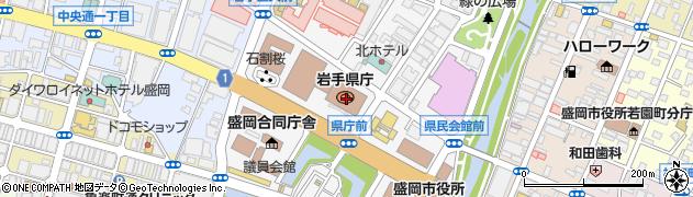 岩手県周辺の地図