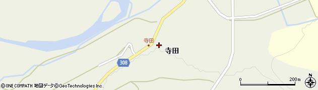 秋田県秋田市河辺三内(寺田)周辺の地図