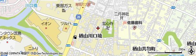 秋田県秋田市楢山川口境周辺の地図
