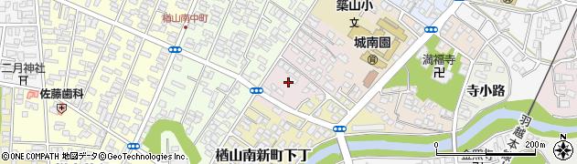 秋田県秋田市楢山南新町上丁周辺の地図