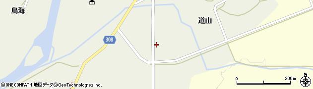 秋田県秋田市河辺三内(山田)周辺の地図
