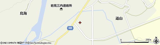 秋田県秋田市河辺三内(本木)周辺の地図
